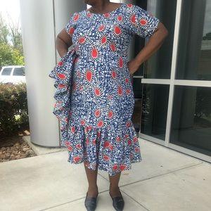 African Ankara women handmade fitted dress